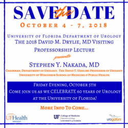 SAVE THE DATE!  The 2018 David M Drylie MD Visiting Professorship