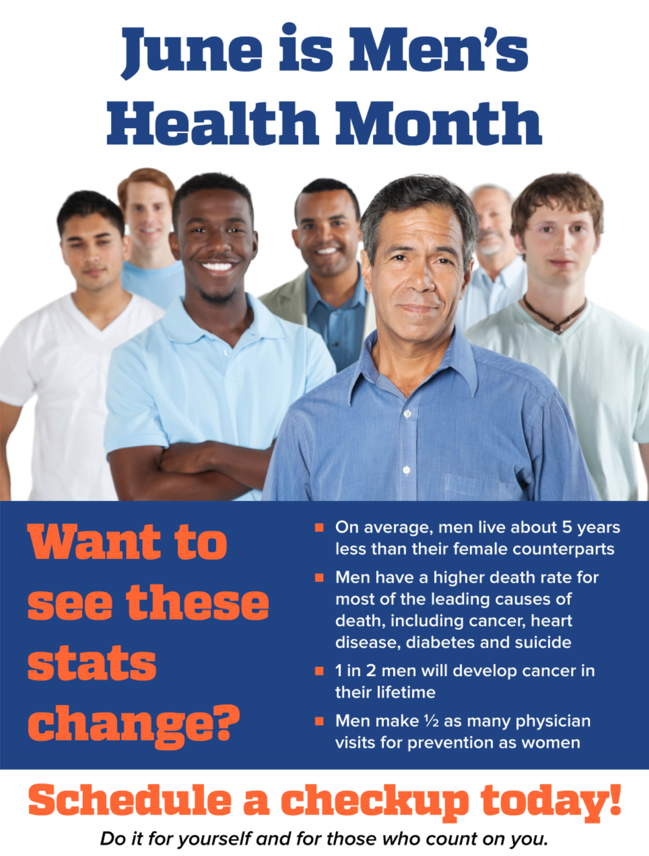 June is Men's Health Month.  To schedule your appointment, call (352) 265-8240.