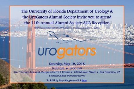 RSVP Today for the University of Florida Department of Urology's 11th Annual UroGators Alumni Society AUA Reception