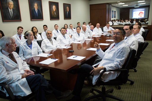 PIC OF UF UROLOGY FACULTY IN CONFERNCE ROOM